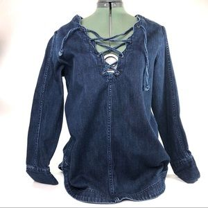 Free people denim top size small